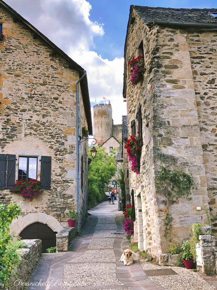 Walking toward the fortress in Najac France