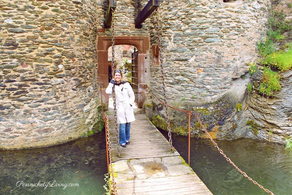 Belcastel Castle moat