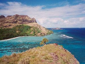 Passe entre 2 îles - Mangareva - Iles des Gambiers