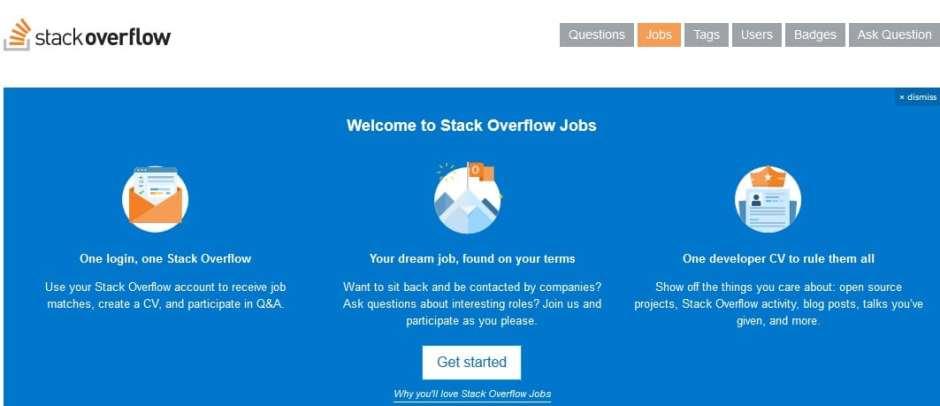 StackOverflow ist ein Anbieter von Stellenanzeigen für Softwareentwickler und Developer