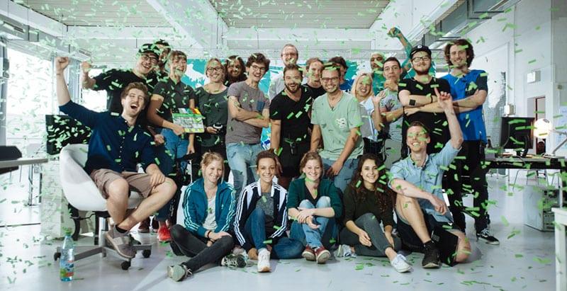 Crew des DATEV Imagevideos für Azubis