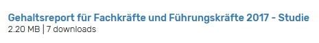 Screenshot kostenloser Basis-Download - Ergebnis-Seite HR-Studien Download Portal auf Persoblogger.de