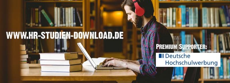 Banner HR-Studien Download Portal inklusive Sponsor-Logo