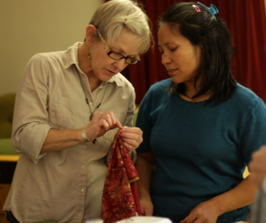 Refugee sewing class in Charlotte, North Carolina