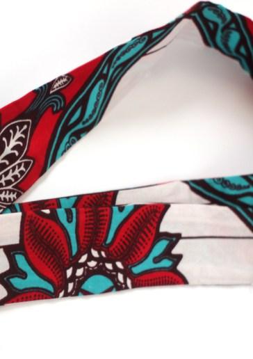 African skinny scarf head tie