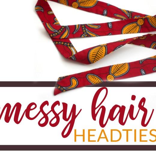 skinny african head ties