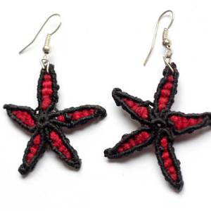 Red earrings from Nicaragua