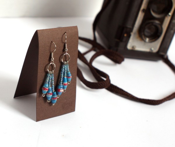 Fair Trade Paper Bead Earrings Charlotte North Carolina