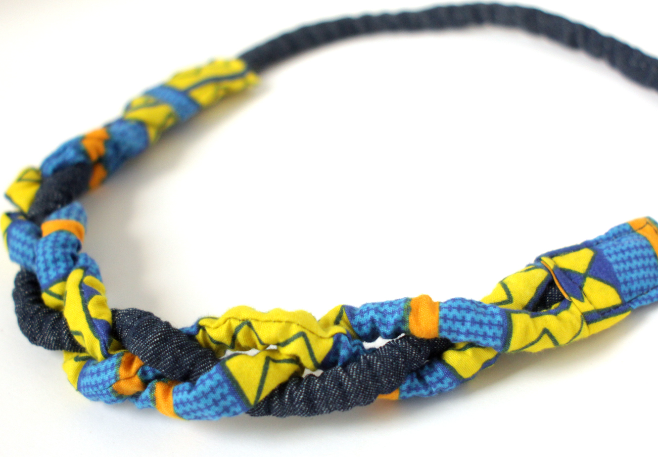 monimon products necklace blue textile yellow ca
