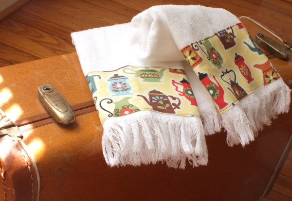 Coffee Kitchen Towels Fringed