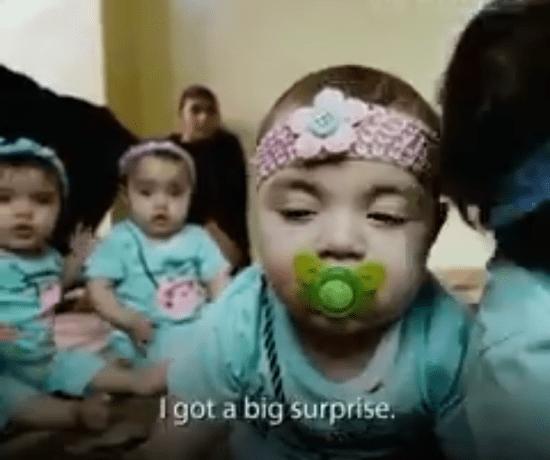 Syrian refugee Quadruplets