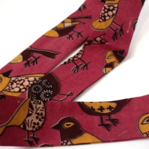 India Pink Bird Head Tie