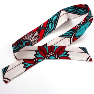Red Flower African Head Wrap