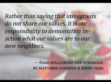 Hospitality to immigrants and refugees world relief