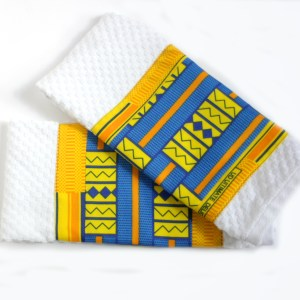 Kitchen towels with Kente