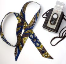 Royal Blue and Brown  Fairtrade Head Scarf