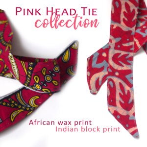 Pink Head Scarf Set Made in NC