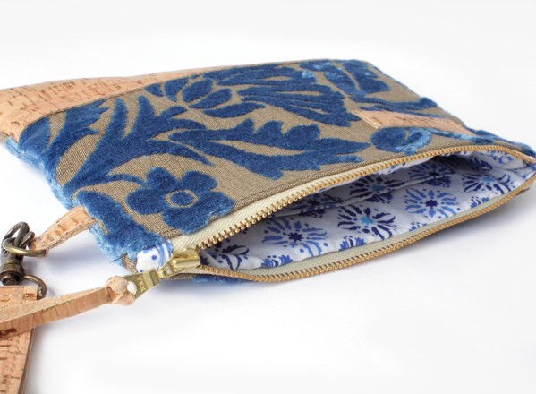 Chenille Tapestry Cork Clutch