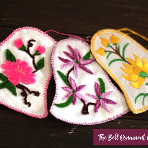 Embroidered Christmas Bell Ornaments Fair Trade