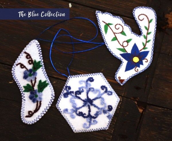 Christmas Blue Ornament Collection
