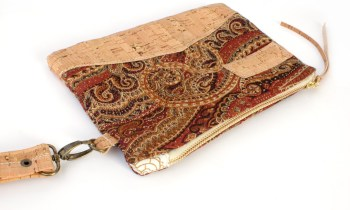 Gold Brown Tapestry Carpet Clutch