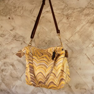 Yellow grey Travel Bag Sustainable Made in NC