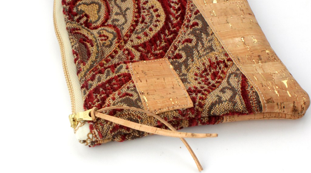 Cork and Tapestry clutch