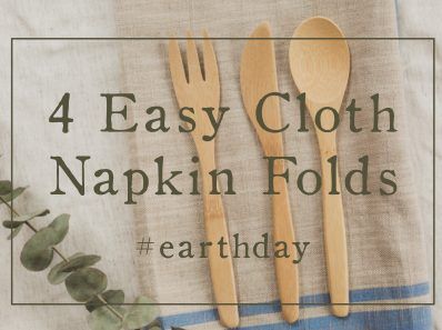 4 Ways to Fold Cloth Napkins