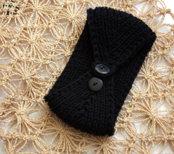 Black Earband Knitted
