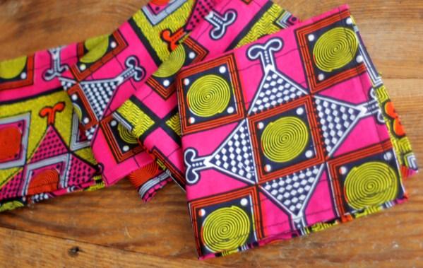Pink African Print Napkins