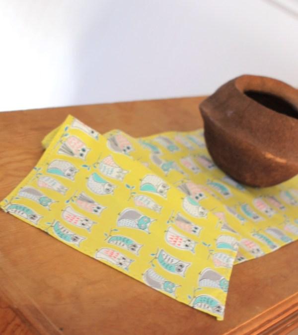 Yellow Organic Cotton Table Runner