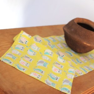 Yellow Organic Cotton Table Runner