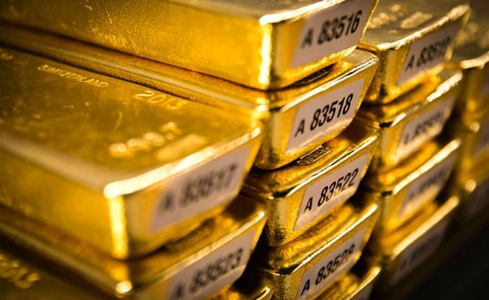 Gold bars at the Bundesbank
