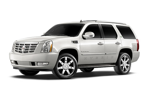 white-2009-escalade-hybrid-on-white-background