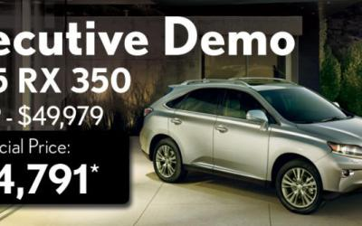 2015 Lexus RX350 Demo – Save over $5,000