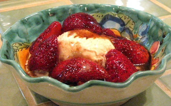 Balsamic Strawberry Sundae