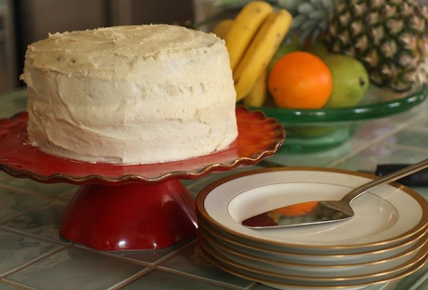Joy's Banana Rum Cake with Brown Butter Icing