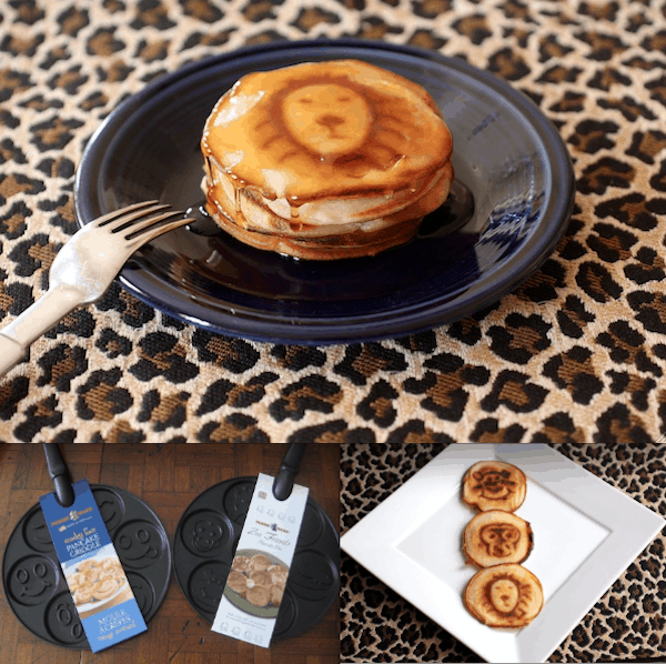 Fun happy face and animal pancakes