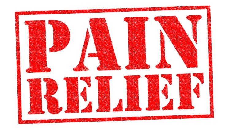 blog picture that reads pain relief