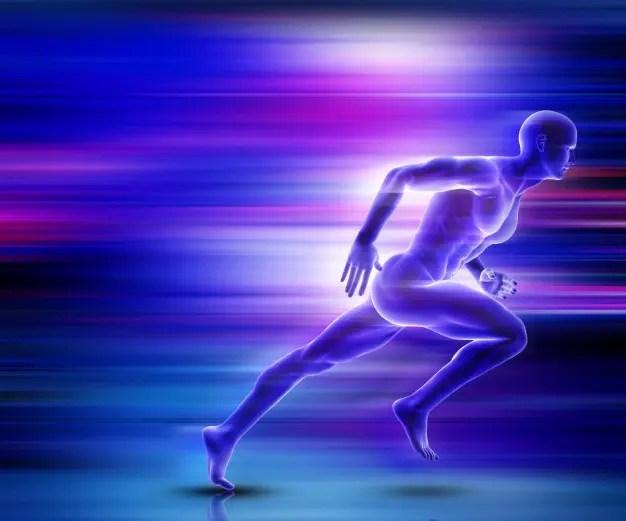 3d male figure sprinting