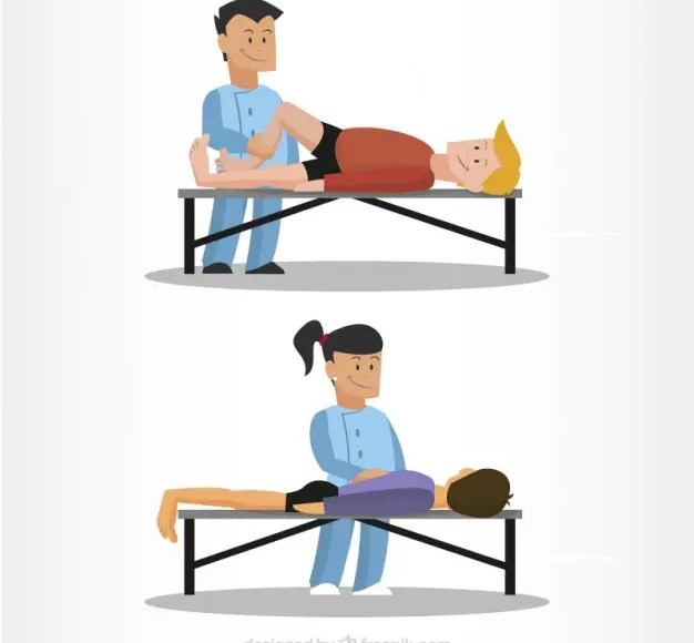 physiotherapist massage