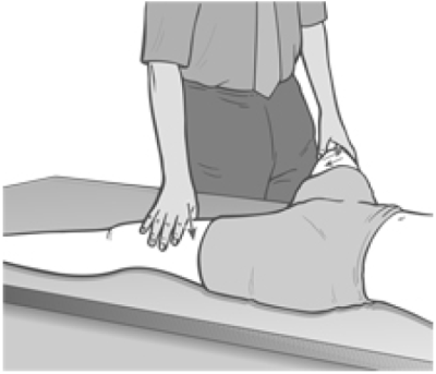 Figure 4.4 Position for Treatment of Shortness in Adductors of the Thigh