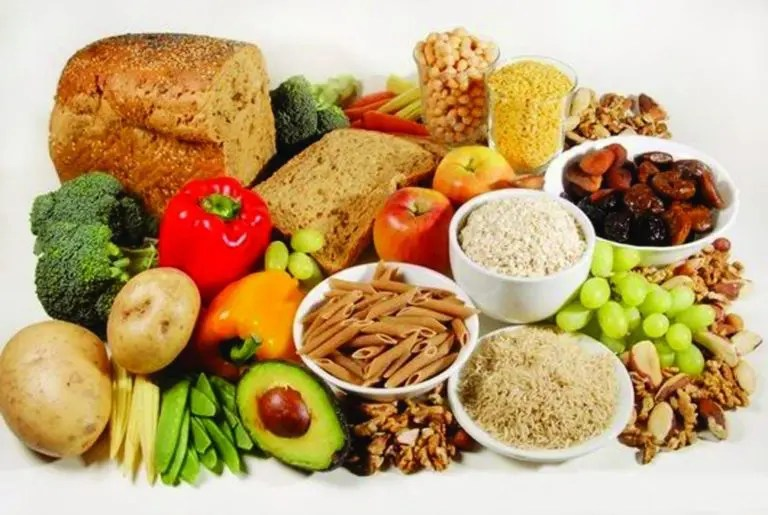 Image of various food groups containing nutrients for IBD.