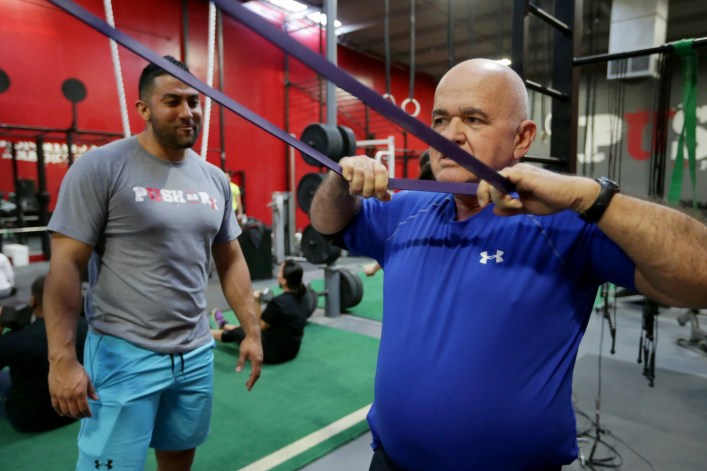 crossfit rehabilitation exercises with a PUSH personal trainer.