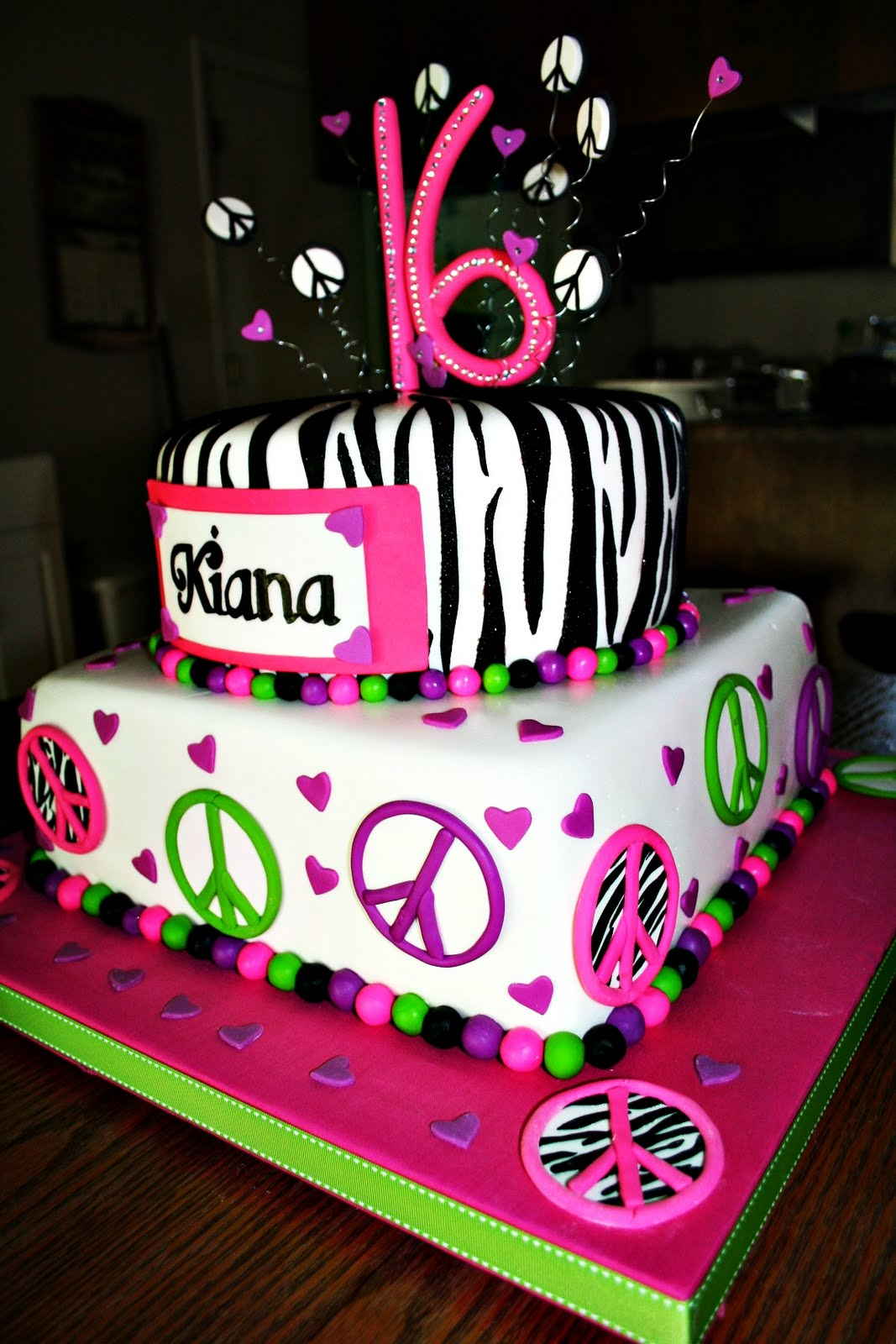 16th Birthday Cake Ideas Personalised Cake Topper