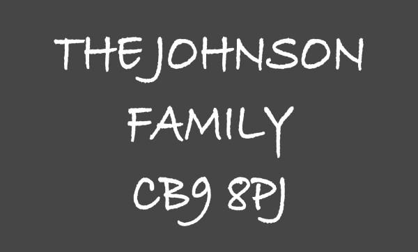 Dark Grey The ... Family & Postcode Personalised Doormat