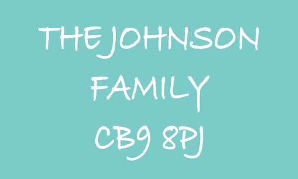 Teal The ... Family & Postcode Personalised Doormat