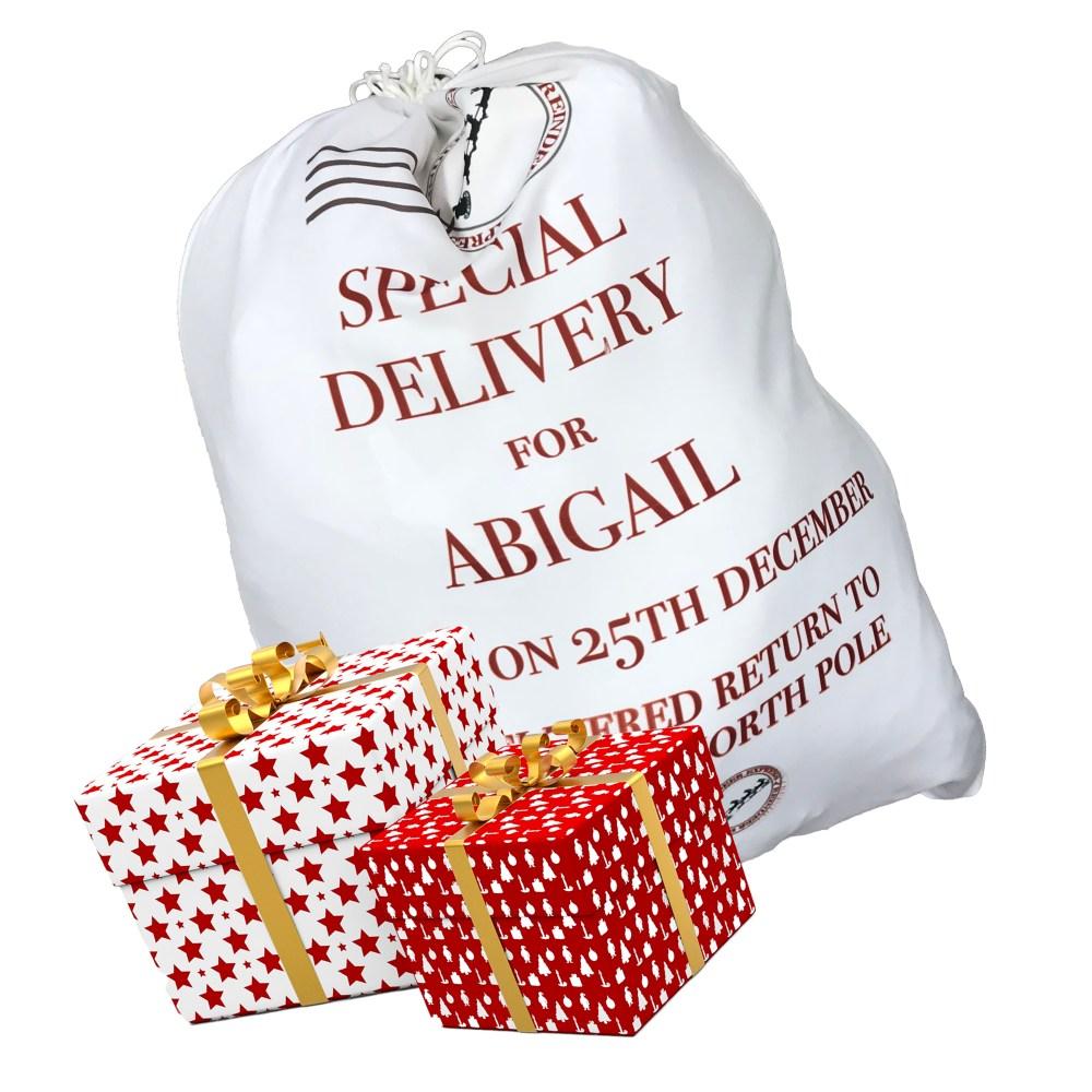 Personalised christmas sack, large christmas sacks, personalised large christmas sacks, personalised christmas sacks large