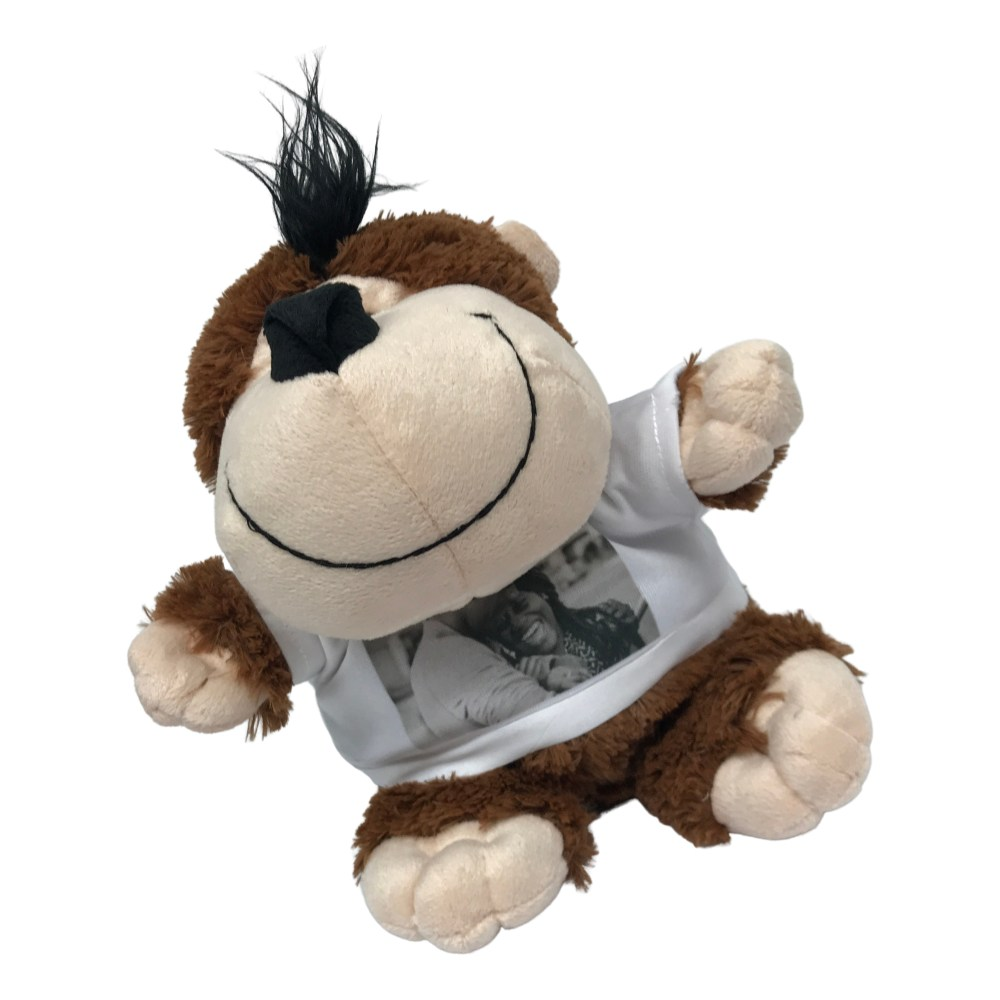personalised monkey teddy bear with photo t shirt