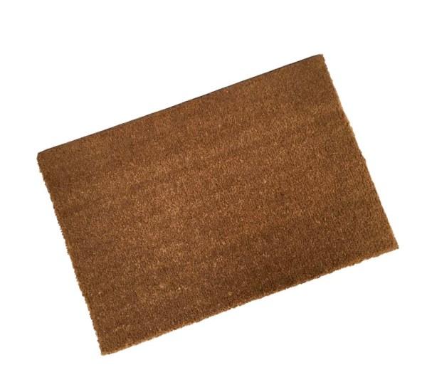 A traditional handmade coir doormat